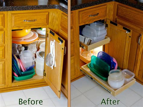 blind corner cabinet solution kitchen drawer organizers