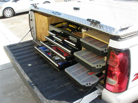 truck bed organizer diy tool box for truck bed billy box truck bed tool box 3