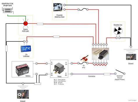 motorcycle voltmeter wiring diagram free wiring