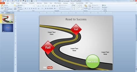 Free Road To Success Powerpoint Template Free Powerpoint Templates Slidehunter Com Road Powerpoint Template