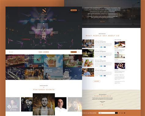 free templates for music website music event website free psd template at downloadfreepsd com