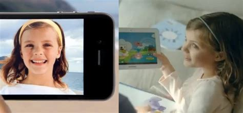 samsung commercial actress mom samsung borrows apple young girl actress of the iphone4s