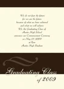 high school graduation announcement wording exles student