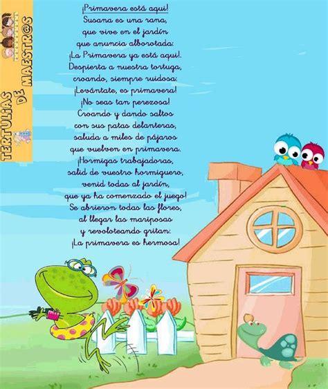 rimas de primavera poemas y rimas infantiles de la primavera para ni 241 os
