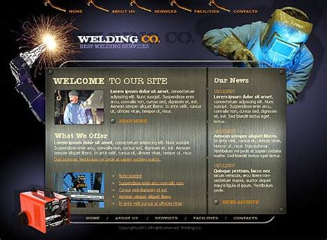 welding co dynamic flash template