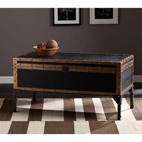 southern enterprises irving antique black coffee table
