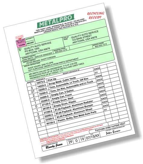 tire receipt template auto repair software automotive software and tire html