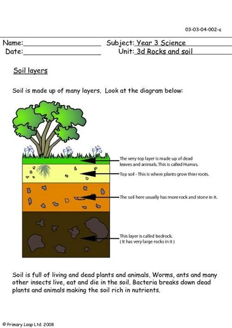 Soil Worksheets For 3rd Grade by Primaryleap Co Uk Soil Layers Worksheet 3rd Grade Sci