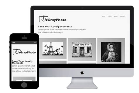 Zgrayphoto Free Responsive Html5 Template Zerotheme Html5 Responsive Templates Free