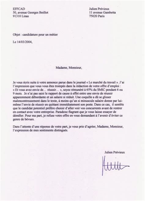 Lettre De Motivation Vendeuse Grand Frais Lettres De Non Motivation F 252 Nf Gem 252 Se