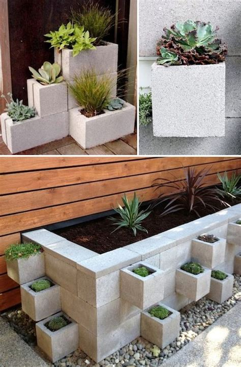 Backyard Planter Ideas Cinder Block Wall Decorating Ideas 2017 2018 Best Cars Reviews