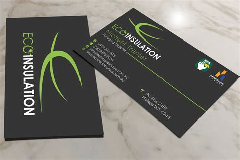 Insulation Business Cards residential business card design for a company by