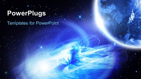 powerpoint template night vision   planet earth