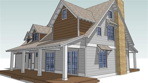 house plans with attic design an attic roof home with dormers using sketchup