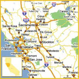 san francisco map and surrounding area
