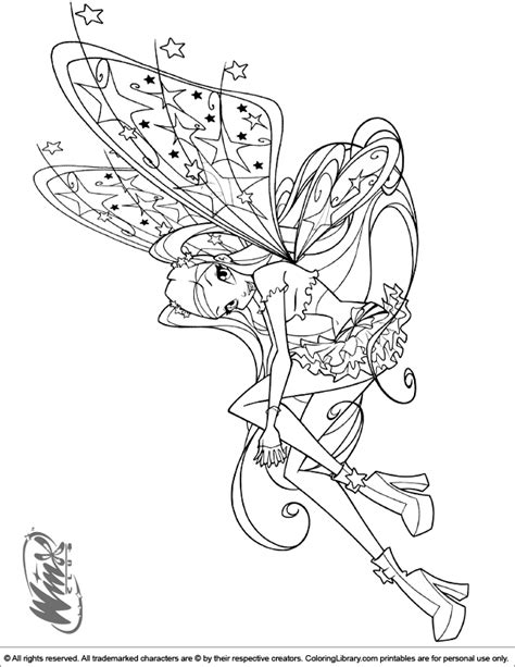 winx pop pixie coloring pages