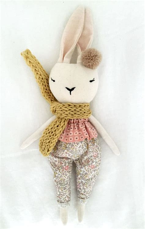 Soft Toys Handmade - handmade bunny doll by lespetitesmainss on etsy living