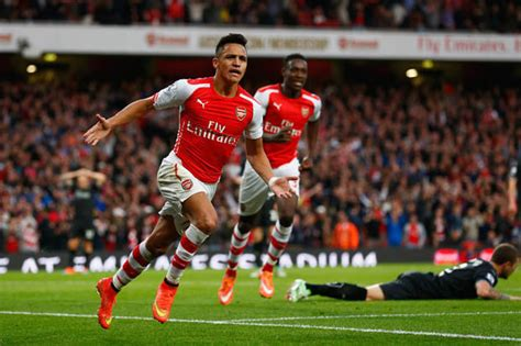alexis sanchez goals video arsene wenger hails arsenal s spanish armada after gunners