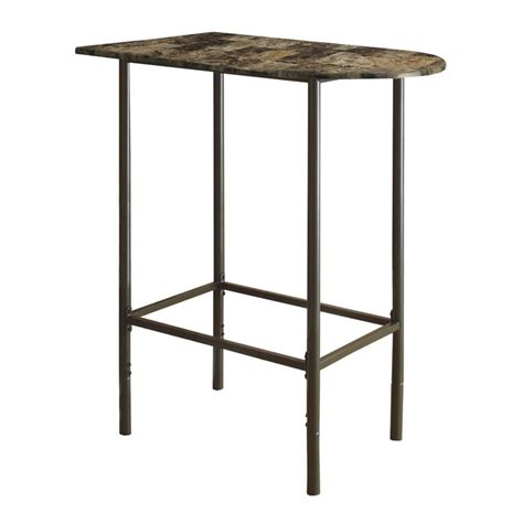 marble top bar table faux marble top metal pub table in cappuccino i 2315