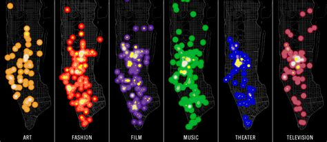 culture of whats buzzing maps density of cultural events in new york and los