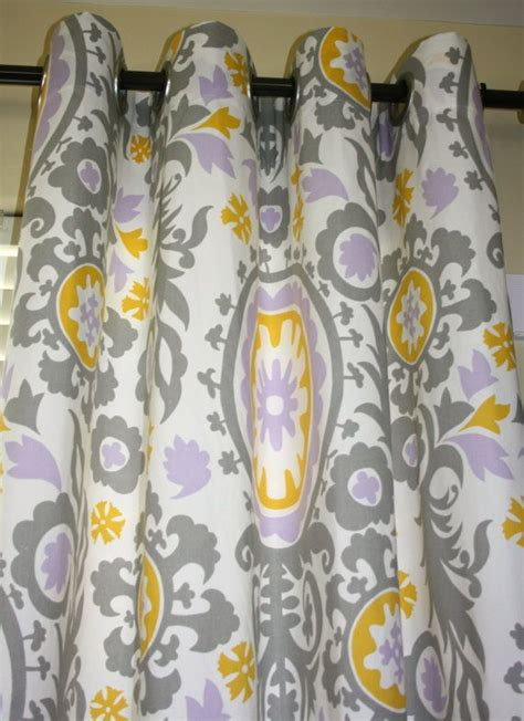 yellow and grey curtain panels wisteria purple gray yellow 8 grommet curtain 2