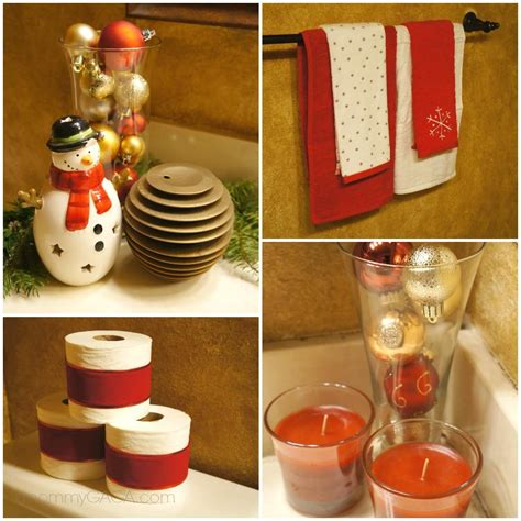 holiday home decor christmas decorating ideas for the guest bathroom
