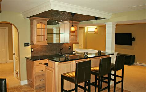Corner Kitchen Island by Basement Bars Are Designed And Built By Deacon Home