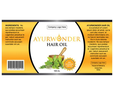 design your label serious personable label design for vaishnavi herbals by