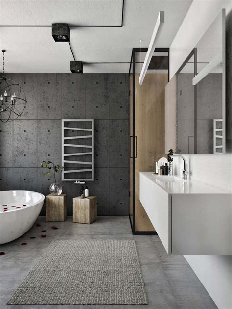 concrete apartment soak in design chic industrial loft in lithuania gets modern updates