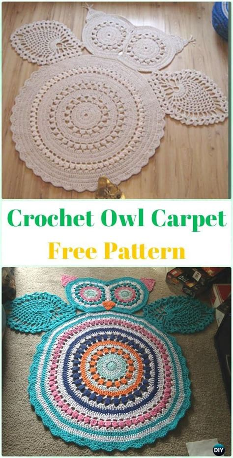 crochet owl rug pattern free 25 best ideas about knit rug on crochet carpet knitted rug and knitting