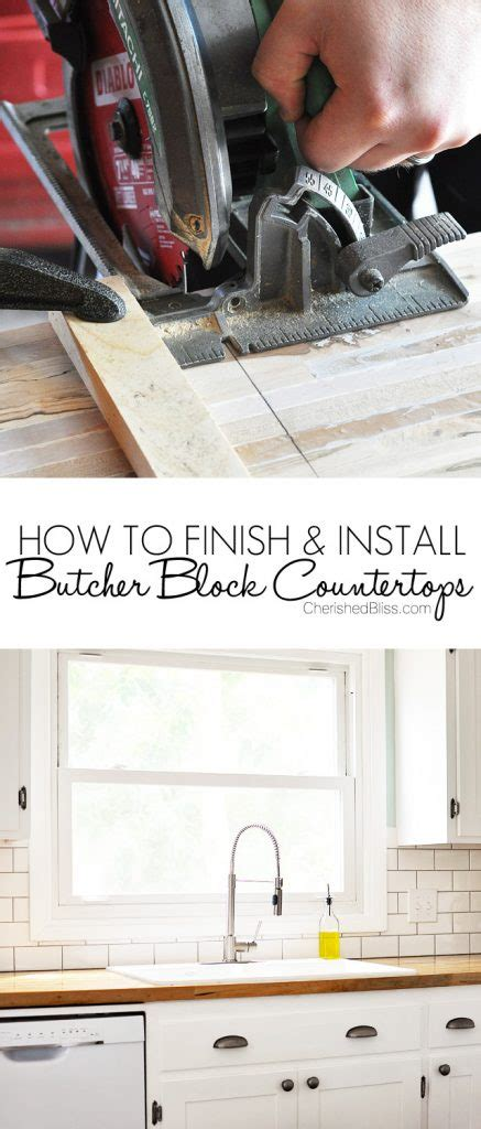 how to finish and install butcher block countertop