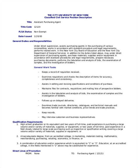 purchasing assistant description 10 purchasing description templates in pdf