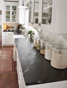 Decorating with glass canisters in the kitchen photo via for the love