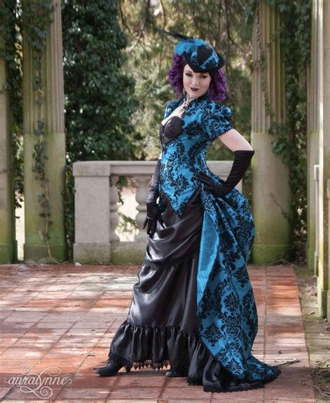 la contessa gothic steampunk masquerade ball gown  auralynne buy