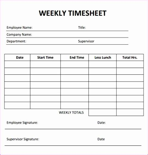 simple weekly timesheet template 10 timecard template excel exceltemplates exceltemplates