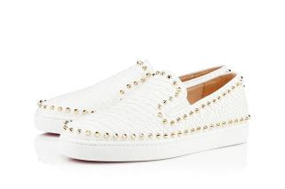 row your boat weed version christian louboutin pik boat studded python sneakers