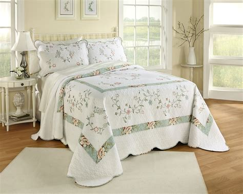 sears bedspreads and comforters country living embroidered bedspread melissa home