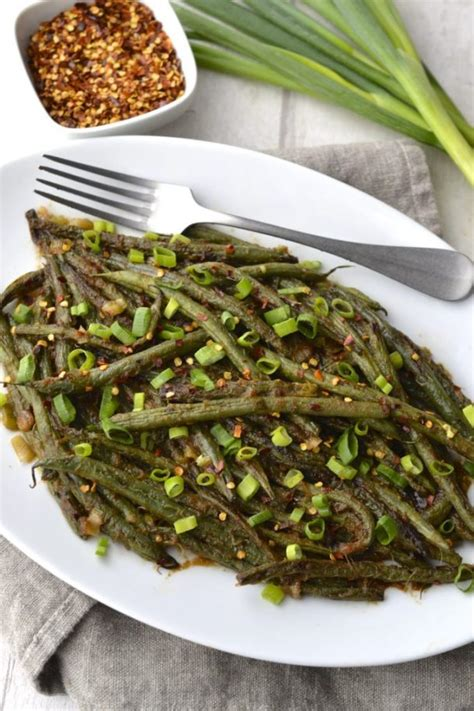 spicy asian green beans   bite