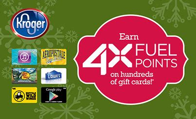 Different Types Of Gift Cards - earn 4x the fuel points at kroger close to home