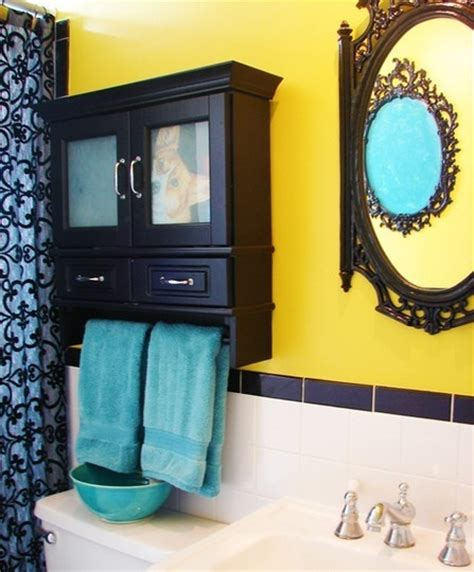 turquoise and yellow bathroom yellow turquoise and black bathroom bathroom pinterest