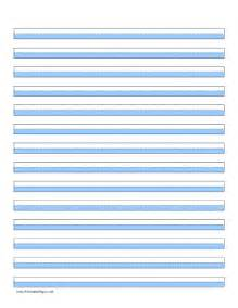 printable highlighter paper blue 14 lines