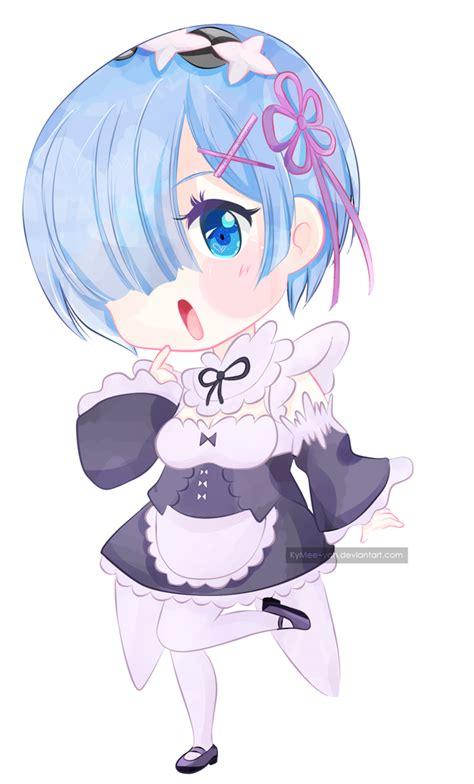 Kaos Rem Chibi Re Zero Hobiku Anime Store chibi rezero rem by kymee yah on deviantart