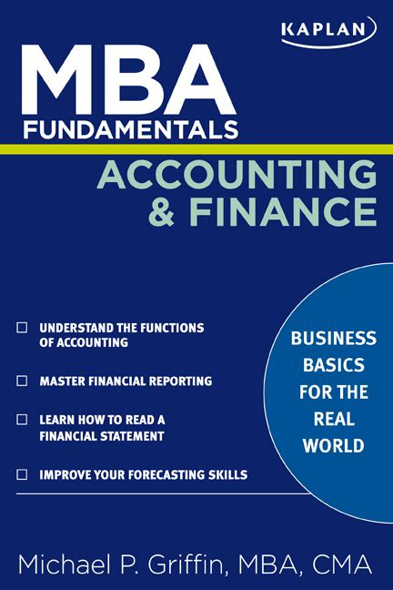 Mba In Accounting And Cpa by Mba Fundamentals Accounting And Finance Book By Michael