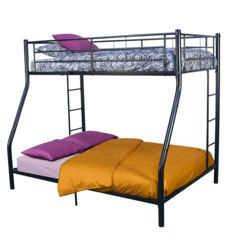 bed frame cls walker edison twin over full bunk bed black