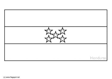 la bandera de honduras para colorear mapa de honduras para imprimir imagui
