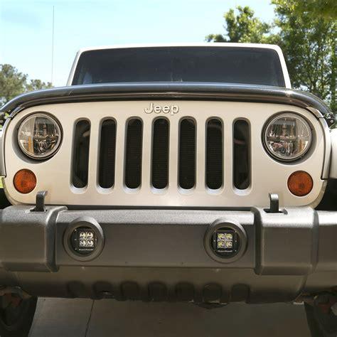 jeep wrangler led fog lights rugged ridge 11232 28 led square fog light kit for 07 17