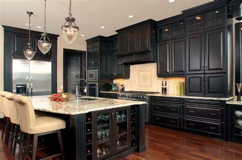 dark kitchens designs kitchen ideas white cabinets black appliances 2017