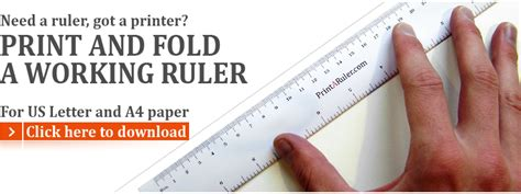 printable easy read ruler need a ruler got a printer print and fold a ruler in minutes