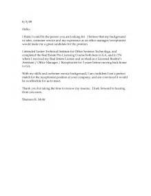 sle cover letter for resume doc cover letter sle doc