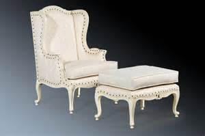 Quality french antique white shabby chic armchair wingback chair